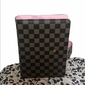 A5 checkered planner